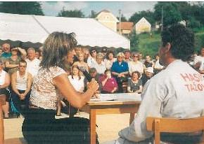 Zuzana Bubílková v Tažovicích v roce 2002 (autor: Miroslav Šobr)