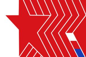 Vlajka KSČM (zdroj: wikipedia.org)
